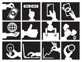 Black And White Business And Commercial Concept Vector Icon Set