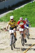 City cup on mountain bicycle. Tyumen