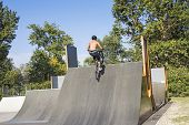 Biker On The Ramp