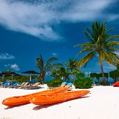 Beautiful island beach at Maldives