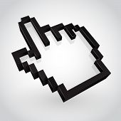 Black hand arrow cursor