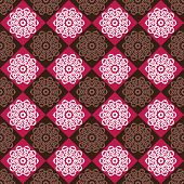 Seamless Pattern Of Red And Brown Rhombuses