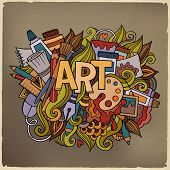 Art hand lettering and doodles elements.