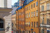 Stockholm. Sweden. Windows in Gamla Stan