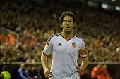VALENCIA, SPAIN - JANUARY 25: Parejo during Spanish League match between Valencia CF and Sevilla FC at Mestalla Stadium on January 25, 2015 in Valencia, Spain