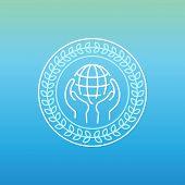 Vector Line Peace Logo