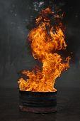Barrel On Fire