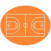 Basketball Ball Court vector