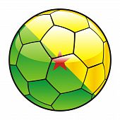 French Guiana flag on soccer ball