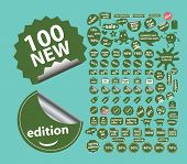 stickers, sales, shopping, ecommerce, stickers, labels, icons, signs, illustrations set, vector
