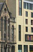 Antique And Modern Facades Buildings In Edinburgh. Scotland. Uk