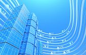 Immobilien Exchange Konzept Hintergrund