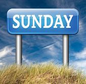 sunday sign event calendar or meeting schedule