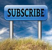 subscribe and sign up for online membership free subscription