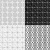 Grey vector seamless patterns