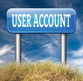 Your user account registration open or create membership profile