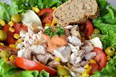 Healthy Vegetable Mixed Chicken Salad