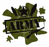 Army military design vector illustration