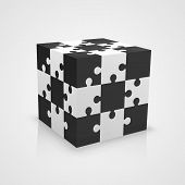 Black and white puzzle cube