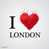 i love London heart sign.