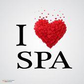 i love spa heart sign