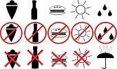 icons with the prohibitions