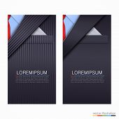 Vector business cards with suit