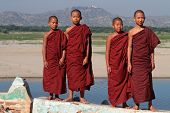 Young Monks on Irrawaddy river