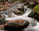 Water Flowing Over Boulders
