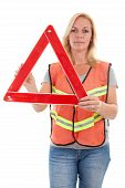 Woman In Safety Vest