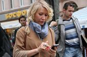The Politician Alyona Popova Looks In The Smartphone