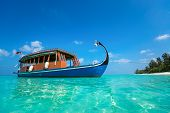 Perfect Tropical Island Paradise Beach And Boat