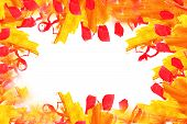 yellow orange blotches watercolor texture background isolated wi