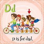 Illustration of a letter D is dad
