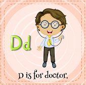 Illustration of a letter D is for doctor
