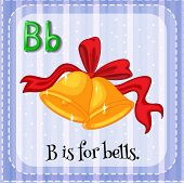 Illustration of a letter B is for bells