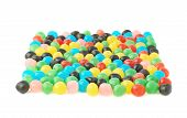 pic of foreshortening  - Multiple colorful candy ball sweets forming a square shape - JPG