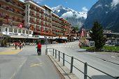 Street In Grindelwald In Switzerland