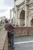 Tourist Visiting Rome