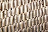 Close Up Pattern Of Rustic Handmade Woven Basket