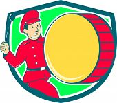 Brass Drum Drummer Marching Shield