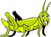 Grasshopper Crawling Side Cartoon