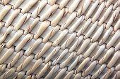 Close Up Pattern Of Handmade Woven Basket
