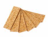 Bread cracker snacks isolated
