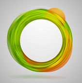 Bright concept circles abstract design. Vector background