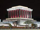picture of mausoleum  - Ho Chi Min mausoleum in Hanoi - JPG