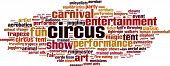 Circus Word Cloud