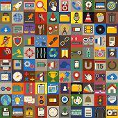 Vector Social Media Icons Illustration Set Concept