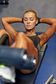 foto of abdominal muscle  - fitness - JPG