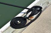 foto of dock  - Boat tie up at dock at local marina - JPG